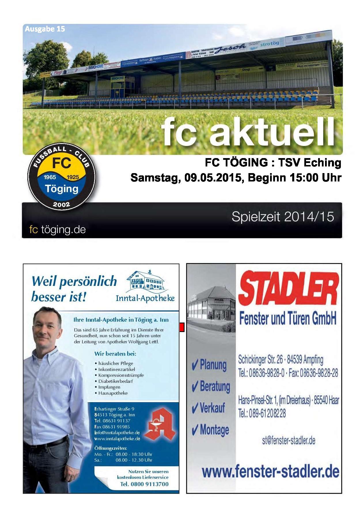 fc aktuell Saison 2014-15 Ausgabe 15