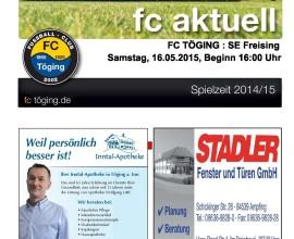 fc aktuell Saison 2014-15 Ausgabe 16