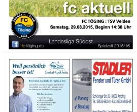 fc aktuell Saison 2015-16 Ausgabe 5