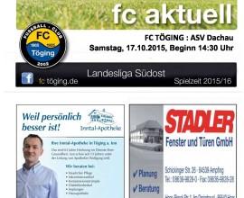 fc aktuell Saison 2015-16 Ausgabe 9