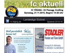fc aktuell Saison 2015-16 Ausgabe 11