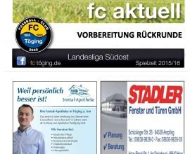 Vorbeitung Rückrunde 2016 Titelblatt
