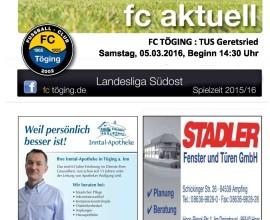 fc aktuell Saison 2015-16 Ausgabe 12