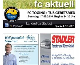 Ausgabe 6 Saison 2016-17 Titelblatt