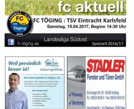 Ausgabe 13 Saison 2016-17 Titelblatt
