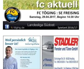 Ausgabe 14 Saison 2016-17 Titelblatt