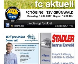 Titelblatt Ausgabe 1 Saison 2017-18