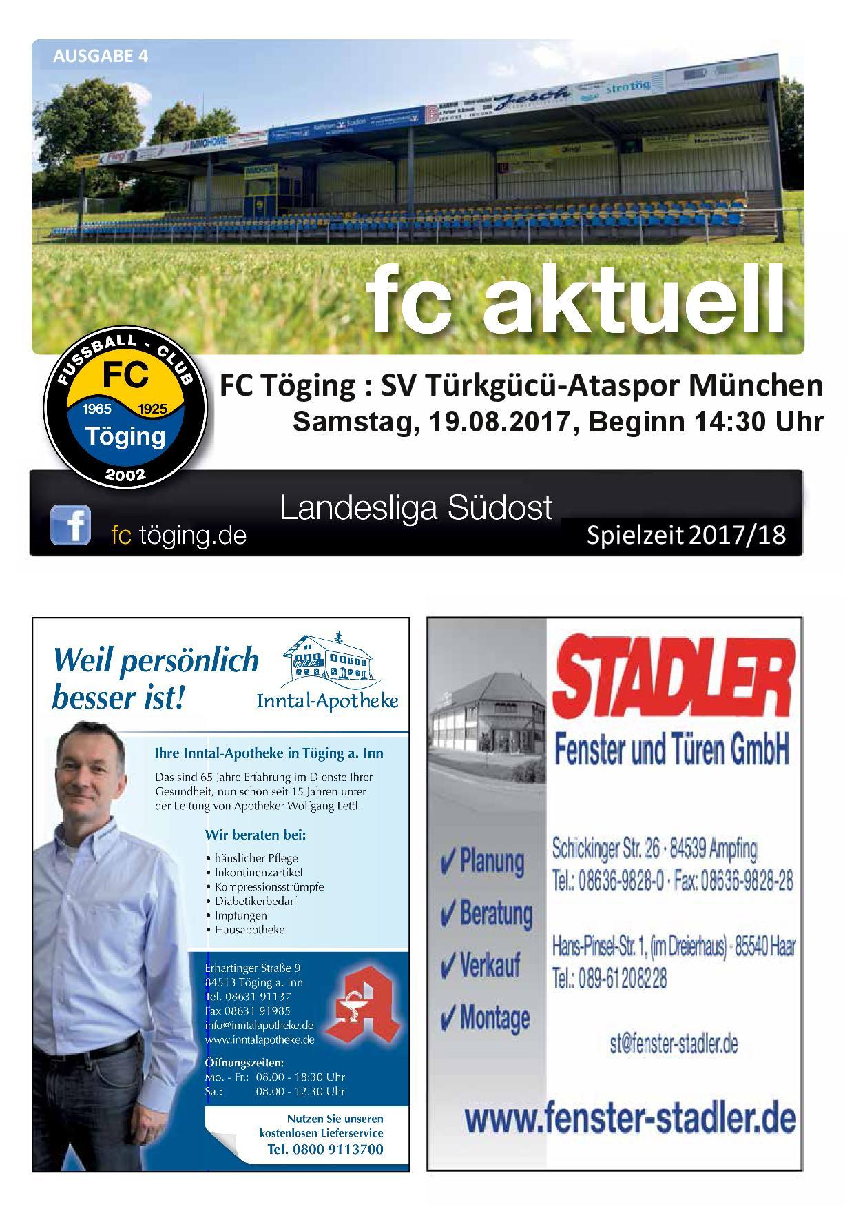 Titelblatt Ausgabe 4 Saison 2017-18