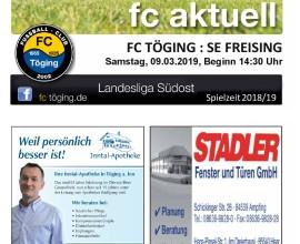Ausgabe 12 Saison 2018-19 Titelblatt