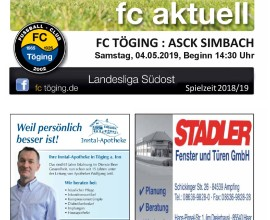 Ausgabe 16 Saison 2018-19 Titelblatt